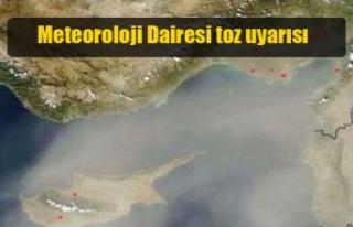 Meteoroloji Dairesi tozlu havaya karşı vatandaşları...