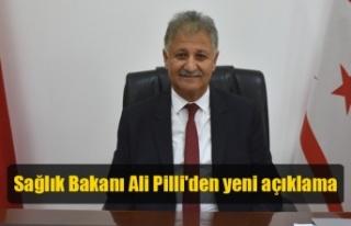 Sağlık Bakanı Ali Pilli'den yeni açıklama