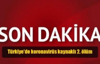 Türkiye'de koronavirüs kaynaklı 2. ölüm