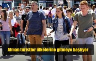 Üstel: Alman turistler, Salı sabahı ülkelerine...