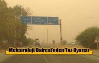 Meteoroloji Dairesi'nden Toz Uyarısı…