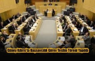 Güney Kıbrıs'ta Başsavcılık Görev Teslim...