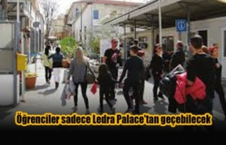 Öğrenciler sadece Ledra Palace'tan geçebilecek