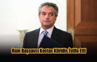 Rum Başsavcı Kostas Kliridis İstifa Etti