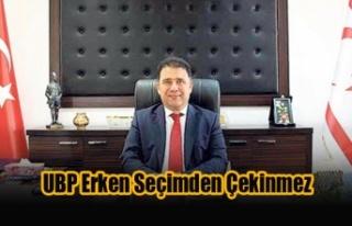 Saner: UBP Erken Seçimden Çekinmez