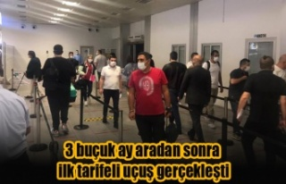 Ercan Havalimanı'na 3 buçuk ay aradan sonra ilk...
