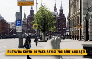 RUSYA'DA KOVİD-19 VAKA SAYISI 700 BİNE YAKLAŞTI