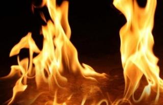 Mormenekşe'de yangın