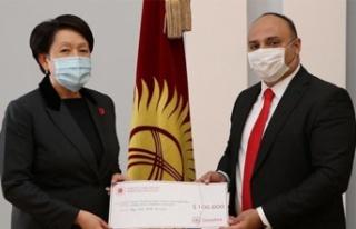 Türkiye'den Kırgızistan'a seçim ekipmanı...