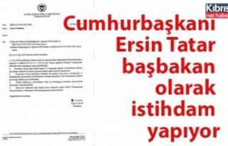 Cumhurbaşkanı Tatar başbakan olarak istihdam yapıyor
