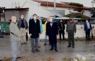 Cumhurbaşkanı Tatar, Ozanköy'de incelemelerde...