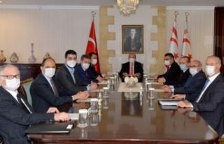 Cumhurbaşkanı Tatar, siyasi parti başkanlarıyla...