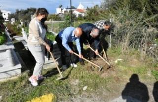 Girne Belediyesi, Karaoğlanoğlu mezarlığına 100...