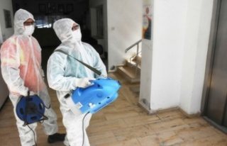 Girne Belediyesi okulları dezenfekte etti
