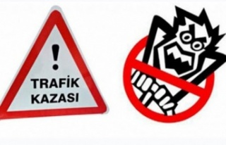 Lefkoşa-Gazimağusa anayolunda bir araç takla attı...