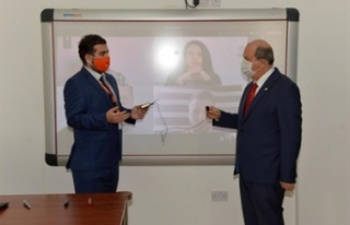 Tatar, Kıbrıs İlim Üniversitesi'ni ziyaret...