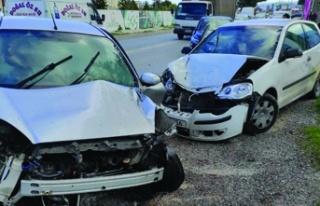 Girne Çatalköy anayolu üzerinde kaza