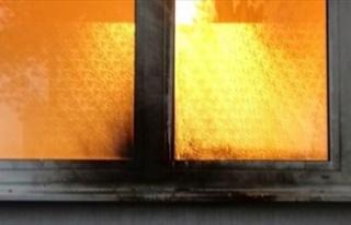 Surlar içinde boş bir evde yangın çıktı