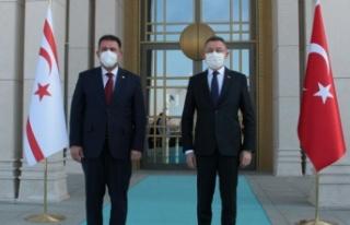 Başbakan Saner, Fuat Oktay'la görüşüyor