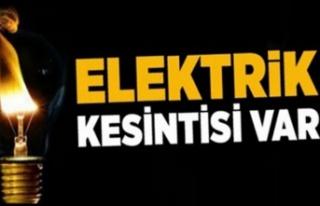 Bazı bölgelere yarın elektrik verilmeyecek