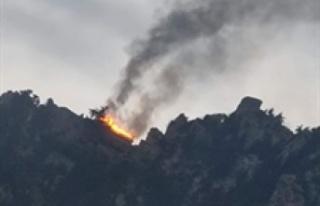 ST. Hılarıon kalesinde yangın