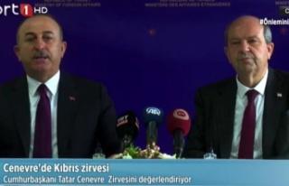 Çavuşoğlu: Yeni bir müzakere sürecinin iki toplum...