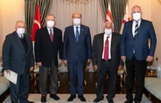 Cumhurbaşkanı Tatar, bazı eski dışişleri bakanlarıyla...