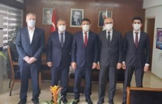 Oğuz, Kıbrıs Türk Sanayi Odası heyetini kabul...