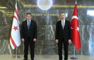 TC Ticaret Bakanı Muş, Erhan Arıklı ile görüştü