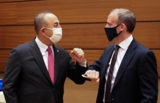 Türkiye Dışişleri Bakanı Çavuşoğlu, Raab ile...