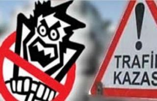 168 promil alkollü yola çıktı kaza yaptı