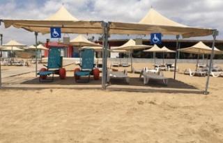 Bafra Halk Plajı, Engelli Şezlonglarıyla Hizmette