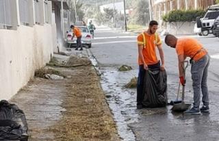 Girne Belediyesi Temizlik Çalışmalarına Devam...
