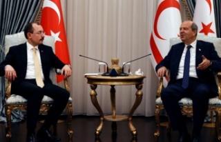 Cumhurbaşkanı Tatar TC Ticaret Bakanı Muş'u...