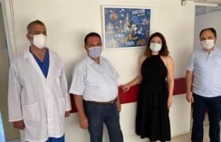 HASDER'li çocuklardan Dr. Nalbantoğlu çocuk servisi'ne...