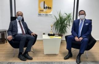 KEİ Koordinatörü Cihan, KTTO Başkanı Deniz ile...