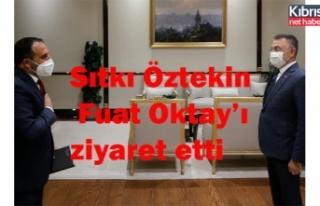 Sıtkı Öztekin, Fuat Oktay'ı ziyaret etti