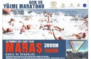"""""""Barış ve özgürlük açık su yüzme maratonu""""..."""