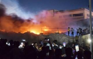 Irak'ta dün gece Covid-19 hastanesinde yangın...