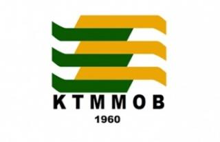 KTMMOB, Girne'deki heykel inşaatının protokol...