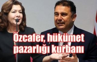 Özcafer, hükümet pazarlığı kurbanı