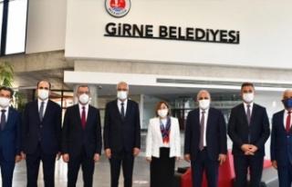 Türkiye Belediyeler Birliği heyeti, Girne Belediyesi'ne...