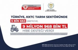 Türkiye, KKTC tarım sektöründe 5 Bin 663 üreticiye,...