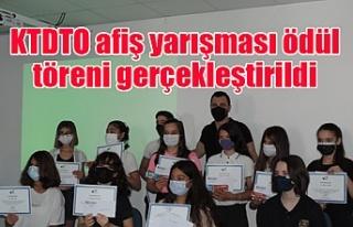 KTDTO afiş yarışması ödül töreni gerçekleştirildi