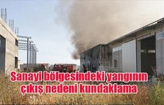 Sanayi bölgesindeki yangının çıkış nedeni kundaklama