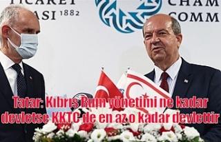 Tatar: Kıbrıs Rum yönetimi ne kadar Devletse KKTC...