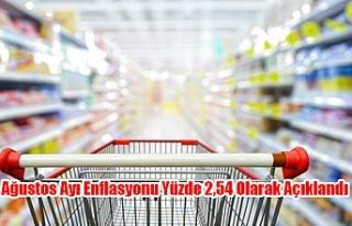 Ağustos Ayı Enflasyonu Yüzde 2,54 Olarak Açıklandı