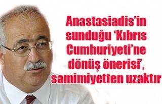 Anastasiadis'in sunduğu 'Kıbrıs Cumhuriyeti'ne...