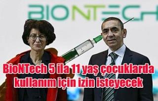 BioNTech 5 ila 11 yaş çocuklarda kullanım için...