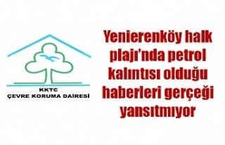 Çevre Koruma Dairesi: Yenierenköy halk plajı'nda...